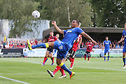 AFC Wimbledon defender Darius Charles (32) controls the ball during the EFL Sky Bet League 1 match between AFC Wimbledon and Shrewsbury Town at the Cherry Red Records Stadium, Kingston, England on 24 September 2016. Photo by Stuart Butcher.