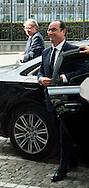 François Hollande: Lunch at the Provincial Palace during the Commemoration of the 100th anniversary of the First World War, in Liège, Belgium, on August 4, 2014.<br /> <br /> François Hollande: Lunch au Palais Provincial lors des comme´morations organise´es par le<br /> Gouvernement fe´de´ral belge a` l'occasion<br /> du Centième anniversaire de la<br /> Premie`re Guerre mondiale, à Liège, Belgique. 4 Août 2014.