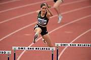 Apr 19, 2019; Torrance, CA, USA; Paola Moran wins the women's 400m hurdles in 57.48 during the 61st Mt. San Antonio College Relays at El Camino College.