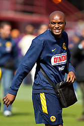 August 3, 2010; San Francisco, CA, USA;  Club America defender Aquivaldo Mosquera (3) practices at Candlestick Park a day before their match with Real Madrid.