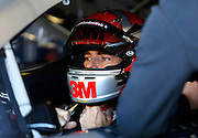 NASCAR Sprint Cup Series auto racing driver Jeff Gordon at Kansas Speedway in Kansas City, Kan., Friday, Oct. 16, 2015. (AP Photo/Colin E. Braley)