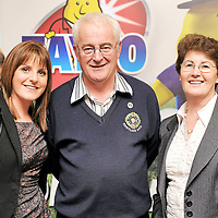 14 February 2012; In attendance at the launch of the Tayto Longford Arms Comótas Peile Páidi O'Sé 2012 in association with Newstalk are Rita Boland, left, West Clare Gaels, with Eamonn and Maureen Byrne from Tinryland GFC, Co. Carlow. The invitational GAA tournament, which will take place from 24-26 February 2012 across the Dingle Peninsula, will see 26 senior, intermediate and junior GAA club teams competing from 15 counties and greater London area.  This year, the men's senior cup will be renamed in memory of former Defence Forces Chief of Staff Dermot Earley. For full details check out www.paidiose.com. Launch of the Tayto Longford Arms Comótas Peile Páidi O'Sé 2012, D4 Berkeley Hotel, Dublin. Picture credit: Paul Mohan / SPORTSFILE *** NO REPRODUCTION FEE ***