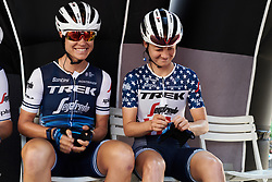 Tayler Wiles (USA) and Ruth Winder (USA) wait for sign on for Stage 8 of 2019 Giro Rosa Iccrea, a 133.3 km road race from Vittorio Veneto to Maniago, Italy on July 12, 2019. Photo by Sean Robinson/velofocus.com
