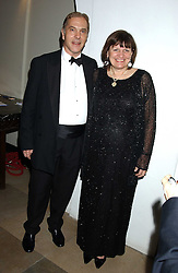 HOWARD FLIGHT MP and his wife CHRISTABEL at a dinner attended by the Conservative leader Michael Howard and David Davis and David Cameron held at the Banqueting Hall, Whitehall, London on 29th November 2005.<br />