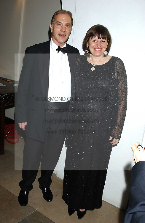 HOWARD FLIGHT MP and his wife CHRISTABEL at a dinner attended by the Conservative leader Michael Howard and David Davis and David Cameron held at the Banqueting Hall, Whitehall, London on 29th November 2005.<br /><br />NON EXCLUSIVE - WORLD RIGHTS
