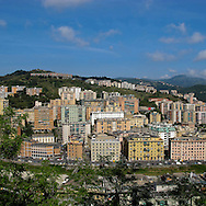 Genova landscape. A popular neighborhood in Genoa