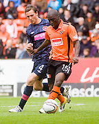 Morgano Gomis and Eggert Jonsson - Dundee United v Hearts, Clydesdale Bank Scottish Premier League at Tannadice Park..© David Young Photo.5 Foundry Place.Monifieth.Angus.DD5 4BB.Tel: 07765252616.email: davidyoungphoto@gmail.com.http://www.davidyoungphoto.co.uk