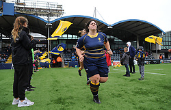 Maddy Escott of Worcester Valkyries runs out on to the pitch ahead of kick -off - Mandatory by-line: Nizaam Jones/JMP - 22/09/2018 - RUGBY - Sixways Stadium - Worcester, England - Worcester Valkyries v Richmond Women - Tyrrells Premier 15s