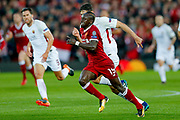 Liverpool striker Sadio Mane (19) in action  during the Champions League semi final leg 1 of 2 match between Liverpool and Roma at Anfield, Liverpool, England on 24 April 2018. Picture by Simon Davies.