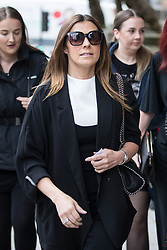 © Licensed to London News Pictures . 30/06/2017 . Stockport , UK . KYM MARSH arrives . The funeral of Martyn Hett at Stockport Town Hall . Martyn Hett was 29 years old when he was one of 22 people killed on 22 May 2017 in a murderous terrorist bombing committed by Salman Abedi, after an Ariana Grande concert at the Manchester Arena . Photo credit : Joel Goodman/LNP