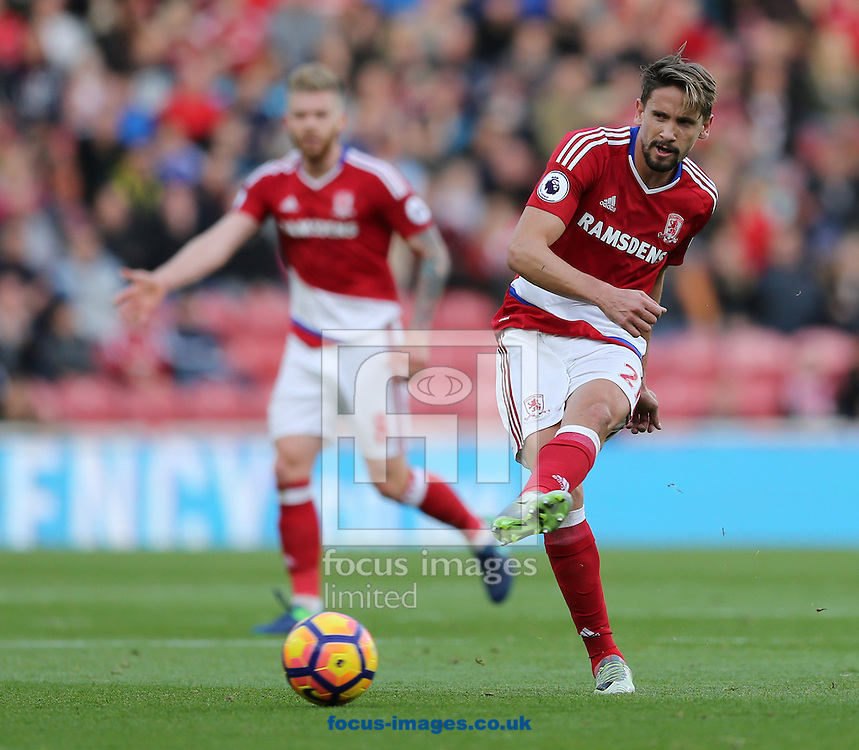 Gaston Ramirez of Middlesbrough during the Premier League match at the Riverside Stadium, Middlesbrough<br /> Picture by Simon Moore/Focus Images Ltd 07807 671782<br /> 29/10/2016