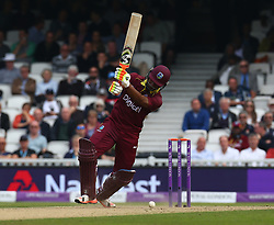 September 27, 2017 - London, England, United Kingdom - Evin Lewis of West Indies.during 4th Royal London One Day International Series match between England and West Indies at The Kia Oval, London  on 27 Sept , 2017  (Credit Image: © Kieran Galvin/NurPhoto via ZUMA Press)