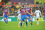 Joe Ledley of Crystal Palace controls the ball.<br /> Barclays Premier league match, Swansea city v Crystal Palace at the Liberty stadium in Swansea, South Wales on Saturday 29th November 2014<br /> pic by Phil Rees, Andrew Orchard sports photography.