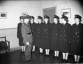 1959 - Women/Bean Garda on duty at College St. Station, Dublin.
