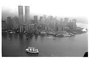 Tall ships entering New york. New York. July 4 1992. © Copyright Photograph by Dafydd Jones 66 Stockwell Park Rd. London SW9 0DA Tel 020 7733 0108 www.dafjones.com