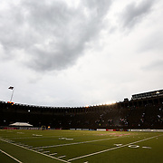 A general view during the game at Harvard Stadium on May 10, 2014 in Boston, Massachusetts. (Photo by Elan Kawesch)
