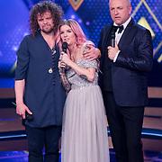 NLD/Baarn/20180410 - 2018 finale 'It Takes 2, Dionne Slagter met Marcel Veenendaal en Gordon Heuckeroth