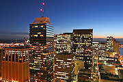 Downtown Honolulu at twilight, Oahu, Hawaii
