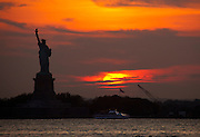 Lady Liberty as seen from Red Hook, Brooklyn, on the first day of Summer.