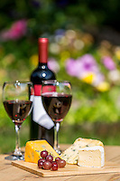Stock photography project photographing different assortments of food and wine.