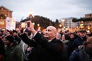 ROMA. SOSTENITORI DEL MOVIMENTO 5 STELLE IN PIAZZA SAN GIOVANNI ALLA MANIFESTAZIONE DI CHIUSURA DELLA CAMPAGNA ELETTORALE;
