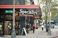 2017 DECEMBER 12 - Specialty's cafe and bakery at 5th and Union, downtown Seattle, WA, USA. By Richard Walker
