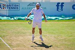 LIVERPOOL, ENGLAND - Sunday, June 18, 2017: Steve Darcis (BEL) during the Men's Final on Day Four of the Liverpool Hope University International Tennis Tournament 2017 at the Liverpool Cricket Club. (Pic by David Rawcliffe/Propaganda)