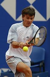 MONTE-CARLO, MONACO - Sunday, April 20, 2003: Guillermo Coria (Argentina) in action during the final of the Tennis Masters Monte-Carlo. (Pic by David Rawcliffe/Propaganda)