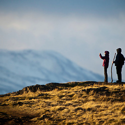 Walkers on the Dumyat, Ochil Hills 22/1/2012
