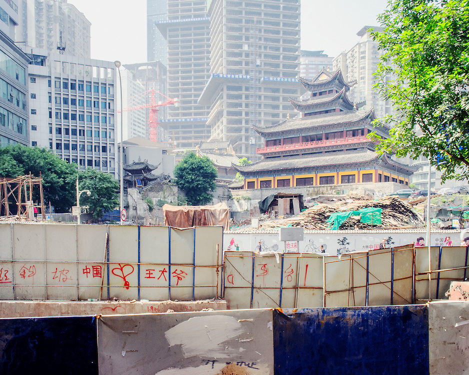 New construction around Luohan Temple.  The temple was originally built about 1000 years ago
