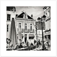 Beaune, Bourgogne, France - Monochrome version. Inkjet pigment print on Canson Infinity Rag Photographique 310gsm 100% cotton museum grade Fine Art and photo paper.<br />