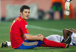 David Villa  of Spain during the 2010 FIFA World Cup South Africa Group H Second Round match between Spain and Honduras on June 21, 2010 at Ellis Park Stadium, Johannesburg, South Africa.  Spain defeated Honduras 2-0. (Photo by Vid Ponikvar / Sportida)