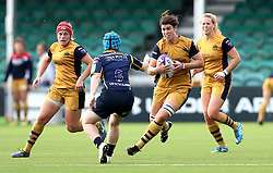 Sarah Hunter of Bristol Ladies runs at Rhiannon Donnahey of Worcester Valkyries - Mandatory by-line: Robbie Stephenson/JMP - 24/09/2016 - RUGBY - Sixways - Worcester, England - Worcester Valkyries v Bristol Ladies Rugby - RFU Women's Premiership