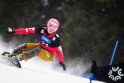 Eri Yanetani (JPN) competes during Qualification Run of Women's Parallel Giant Slalom at FIS Snowboard World Cup Rogla 2016, on January 23, 2016 in Course Jasa, Rogla, Slovenia. Photo by Ziga Zupan / Sportida