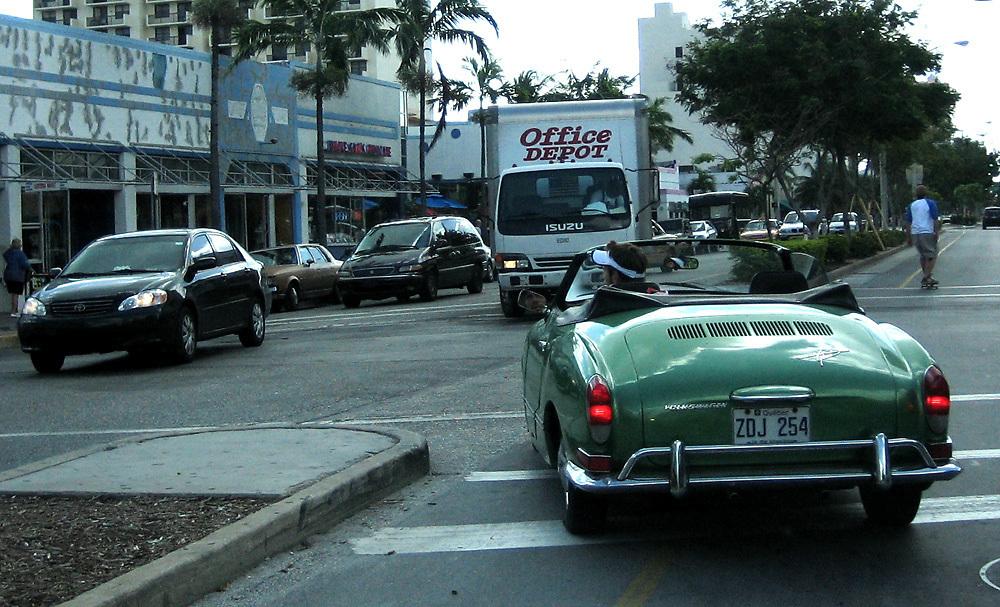 Volkswagen Kharman Ghia in Miami Beach, Florida