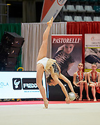Denise Peracca from Armonia D'Abruzzo team during the Italian Rhythmic Gymnastics Championship in Bologna, 9 February 2019.