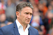 Nottingham Forest manager Philippe Montanier during the EFL Sky Bet Championship match between Nottingham Forest and Wigan Athletic at the City Ground, Nottingham, England on 20 August 2016. Photo by Jon Hobley.