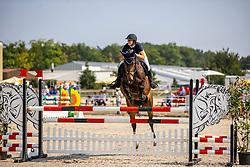 HEMPEL Svenja (GER), Coockie 5<br /> Springpferdeprüfung Kl. M - 6jährige<br /> Verden - Verdener Championate Springpferde 2020<br /> 10. August 2020<br /> © www.sportfotos-lafrentz.de/Stefan Lafrentz
