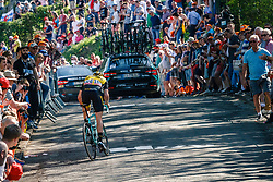 GESINK Robert of Team LottoNL-Jumbo during 2nd lap on Mur de Huy at the 2018 La Flèche Wallonne race, Huy, Belgium, 18 April 2018, Photo by Thomas van Bracht / PelotonPhotos.com | All photos usage must carry mandatory copyright credit (Peloton Photos | Thomas van Bracht)