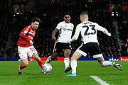 Patrick Roberts (19) of Middlesbrough on the attack during the EFL Sky Bet Championship match between Fulham and Middlesbrough at Craven Cottage, London, England on 17 January 2020.