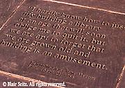 Benjamin Franklin Memorial Plaques, Ben Franklin House, Independence National Historic Park, Philadelphia, PA