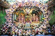 WATFORD HERTFORDSHIRE: A Deity at the temple. Over 55,000 pilgrims and guests visit the Largest Hindu Festival in Europe at Bhaktivedanta Manor Krishna Temple near Watford on Sunday 5th September to celebrate Janmashtami the birth of Lord Krishna. The Manor was donated to the Hare Krishna Movement in the early 1970s by former Beatle George Harrison. 03 SEPT 2010. STEPHEN SIMPSON ..