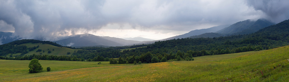 Thunderstorm in the mountains near Runina, Poloniny National park, Western Carpathians, Eastern Slovakia, Europe