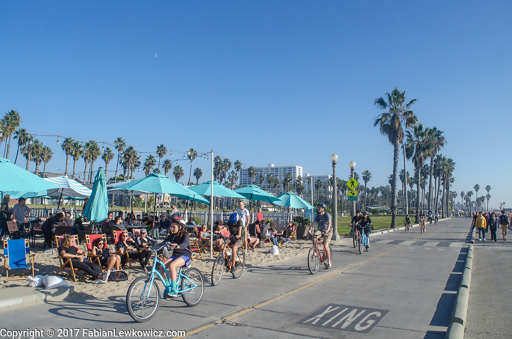 Santa Monica Beach Bike  Path, December 27, 2017.