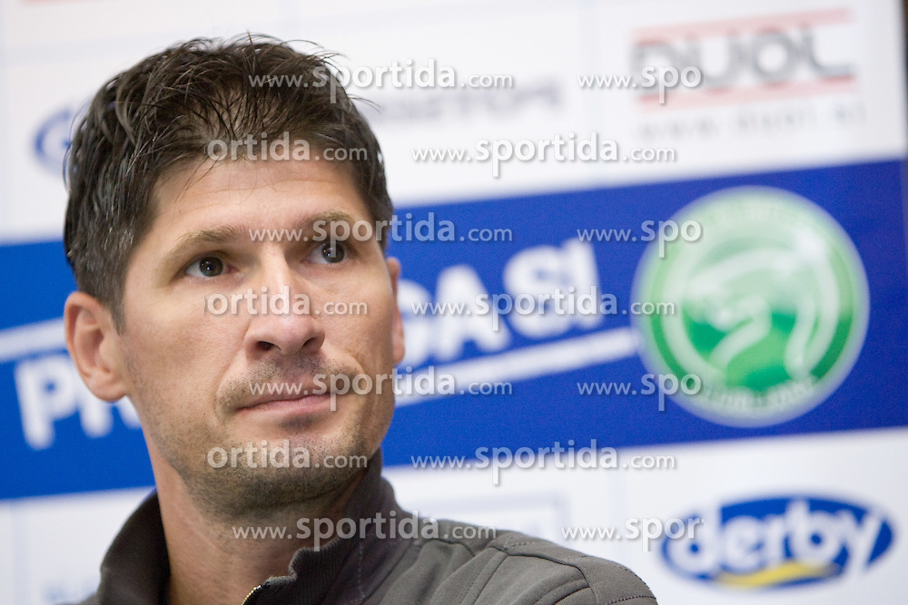 Simon Seslar of NK Olimpija at press conference,  on September 29, 2009, in Ljubljana, Slovenia.  (Photo by Vid Ponikvar / Sportida)