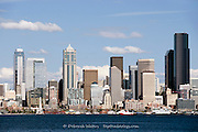 View across Elliott Bay to downtown Seattle, from Alki, West Seattle, USA