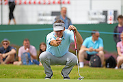 Sir Nick Faldo eyeing up his putt on the 13th during The Senior Open Championship, Sunningdale Golf Club, Sunningdale, United Kingdom on 23 July 2015. Photo by Phil Duncan.