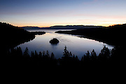 A quiet peaceful morning on Lake Tahoe at Emerald Bay. A picture of California.