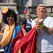 Protest: US and EU hands off Venezuela - no sanctions, no embargo, London, UK