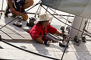 12 Meter Class America II racing in the Skyline Race at New York Classic Week